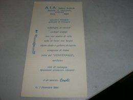 MENU' A.I.A SETTORE ARBITRALE 1984 - Menu