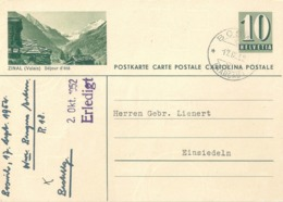 "PK 182  ""Zinal (Valais) Séjour D'été""             1952 - Interi Postali"