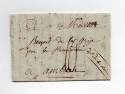 !!!  PRIX FIXE, MARQUE POSTALE N°12 ARMEE D'ALLEMAGNE SUR LETTRE DE 1811 - Marcophilie (Lettres)