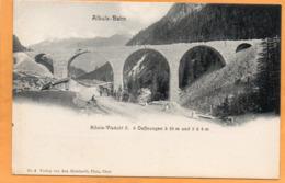 Albula Bahn Railroad Switzerland 1900 Postcard - GR Grisons