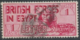 British Forces In Egypt. 1936 Definitives. 1p Red Used. P14½X14 SG A7 - Egypt