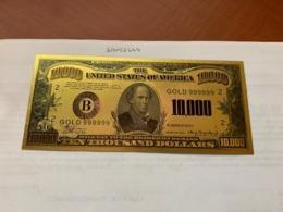 United States $10,000.00 Gold Foil Souvenir Banknote - Nationale Valuta