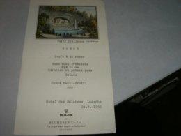 MENU' HOTEL DES BALANCES LUCERNE 1953 ROLEX - Menu