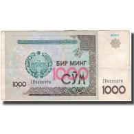 Billet, Uzbekistan, 1000 Sum, 2001, KM:82, TB+ - Ouzbékistan