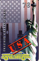GREECE - The Statue Of Liberty/New York, USA, Amimex Prepaid Card 7 Euro(807 4000), Used - Grèce