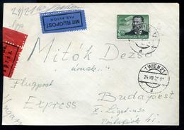 WIEN 1938. Expressz Légi Levél Budapestre Küldve  /  VIENNA Express Airmail Letter To Budapest - 1918-1945 1st Republic