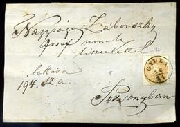 GYULA 1863. 15kr Levél Előlapon  /  15Kr On Letter Front - 1850-1918 Empire