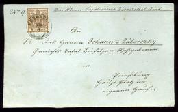 VEREBÉLY 6kr Levél Előlapon  /  6 Kr On Letter Front - 1850-1918 Empire