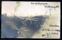 KOMÁROM I. VH . Katonák, állomás, Fotós Képeslap  /  WW I. Soldiers, Station, Photo Vintage Pic. P.card - Hungary