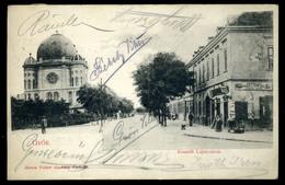 GYŐR 1907. Régi Képeslap , Zsinagóga  /  Vintage Pic. P.card, Synagogue - Religion & Esotericism