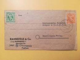 1945 BUSTA INTESTATA GERMANIA DEUTSCHE OCCUPAZIONE BOLLO LETTERA M LETTER ANNULLO OBLITERE' NURNBERG GERMANY - Bizone