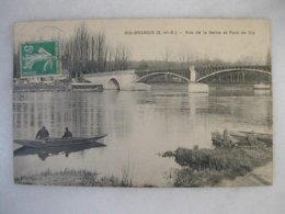 RIS ORANGIS - Vue De La Seine Et Pont De Ris (animée Avec Barques) - Ris Orangis