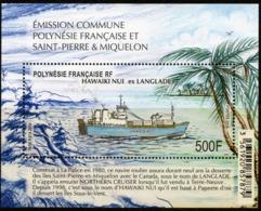 Polynésie Française 2019 - Bateau Hawaiki Niu Ex Langlade, Conjoint SPM - BF Neuf // Mnh - Polynésie Française