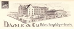 Neheim 1936, Rechnung Dame & Co., Beleuchtungskörper-Fabrik, Mit Ansicht - Deutschland