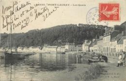 PORT LAUNAY - Les Quais.(péniches) - France