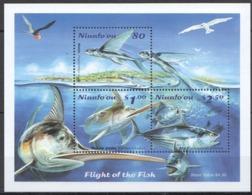 B392 NIUAFO'OU FAUNA FLIGHT OF THE FISH MARINE LIFE BL29 !!! MICHEL 12 EURO !!! 1BL MNH - Meereswelt