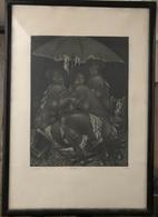 Amerigo Tot (1909 -1984): Artisták, 1980 Rézkarc, Szignált, Keretben , Képméret 40*30 Cm  /  Acrobat Copper Etching, Sig - Incisioni