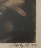 Uitz Béla: Anya Gyermekével, 1916. Rézkarc Keretben, Jelzett . Képméret 25*17 Cm  /   Mother With Children Copper Etchin - Incisioni