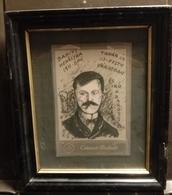 """1910. """"Babits Mehályka 1911-ben""""  érdeks Grafika, Keretben , Képméret 17*12 Cm  /  Intr. Graphics In Frame - Disegni"""