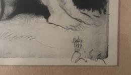 SZÁSZ Endre : Akt, Jelzett Rézkarc , Keretben , Képméret 30*20   /  Nude Copper Etching In Frame - Incisioni