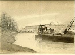 ÓBUDAI HAJÓGYÁR Litográfia, Takáts Adolf 1907. 30*21 Cm  /  SHIPYARD Of Óbuda Litho - Litografia