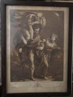 Eneas Carrying His Father Anchyses 1767. Metszet  Keretben, Képméret 33*23 Cm (Tintoretto)  /  Etching In Frame - Incisioni