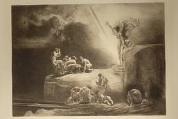 Rudolf Jettmar 1869-1939 : Prometheus Bringt Den Menschen Das Feuer , Rézkarc, Szép ! 75*55 Cm  1916.  /  Copper Etching - Incisioni