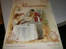 MENU' RISTORANTE LA PERIGOURDINE PARIGI - Menu