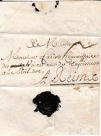 Précurseur 1695 Lettre Avec Contenu Manuscrit Port 2 Cachet De Cire Fermeture Charleville Reims - ....-1700: Precursors