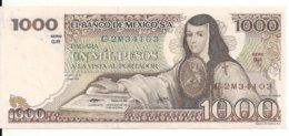 MEXIQUE 1000 PESOS 1979 UNC P 70 B - Mexico
