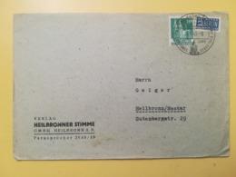 1949 BUSTA INTESTATA GERMANIA DEUTSCHE OCCUPAZIONE BOLLO GERMAN BUILDINGS ANNULLO OBLITERE' HEILBRONN GERMANY - Bizone