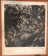 BAJA Benedek Ady Illusztráció , Dedikált 51*49 Cm, Litográfia  /  Illustration, Dedicated Litho - Litografia