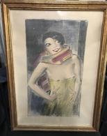 Vaszary János (1867-1939): Tücsök ( La Cigale), 1926.színezett Litográfia,  405*240 Mm  /  Colored Litho - Litografia