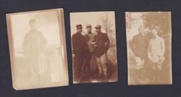 Photo Originale Amateur Lot De 3 Guerre 14-18  Maurice Blot Lerede Et Griveau 1917 - Oorlog, Militair