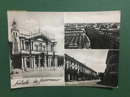 Cartolina Saluti Da Saronno - Panorama - Corso Italia - 1953 - Varese