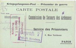 Ardennes Giraumont   Elie Miser Merseburg  Prisonnier - Poststempel (Briefe)