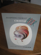 Carton Publicitaire Original Années 60 - GARNIER Shampoing Colorant CRISTAL Color - Pappschilder
