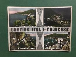 Cartolina Confine Italo Francese - Grimaldi - Mentone Ed Balzani Rossi - 1956 - Imperia