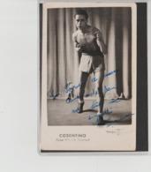 .BOXING.BOKSEN. PHOTO. JAC.    BOXEUR  COSENTINO   SIGNEE. AUTOGRAPHE TEAM.M.GUERAULT - Boxing