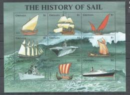 U179 GRENADA SHIPS THE HISTORY OF SAIL 1KB MNH - Barche