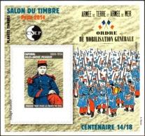 CNEP N°  66 A De 2014 - Bloc Autoadhésif - Salon Du Timbre Vincennes - Ordre De Mobilisation - CNEP