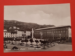 Cartolina Massa - Piazza Aranci - Palazzo Ducale - 1956 - Massa