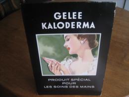 Carton Publicitaire Original Années 60 - Gelée KALODERMA - Produit Spécial Pour Les Soins Des Mains - Plaques En Carton