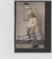 .BOXING.BOKSEN. PHOTO. Studio23.   BOXEUR  ROGER HOMBERT. PROF. MAYOT  SIGNEE. AUTOGRAPHE - Boxing