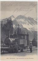 Brünigbahn - Lokomotiv-Grossaufnahme Auf Passhöhe - 1906          (P-191-70809) - BE Berne