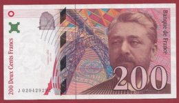 "200 Francs ""Eiffel"" 1996----F/TTB+---ALPH -J- Numéro 020429292 - 1992-2000 Ultima Gama"