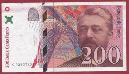 "200 Francs ""Eiffel"" 1996----F/TTB+---ALPH -G- Numéro 023373548 - 1992-2000 Ultima Gama"