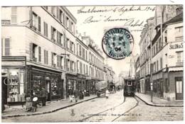 92 HAUTS De SEINE Tramway électrique Rue De Paris à COURBEVOIE Carte Précurseur - Courbevoie