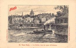 France Paris  Vieux Paris  La Seine , Vue Du Quai D'Orléans      Maggi   Barry 156 - La Seine Et Ses Bords