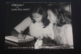 Chile,  LUIS CORVALAN Daughters / Old Postcard - Cile